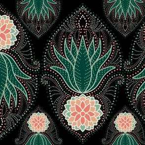 Simply succulents damask