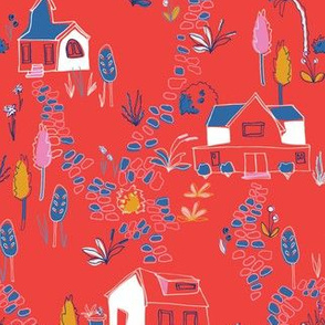 Village in red