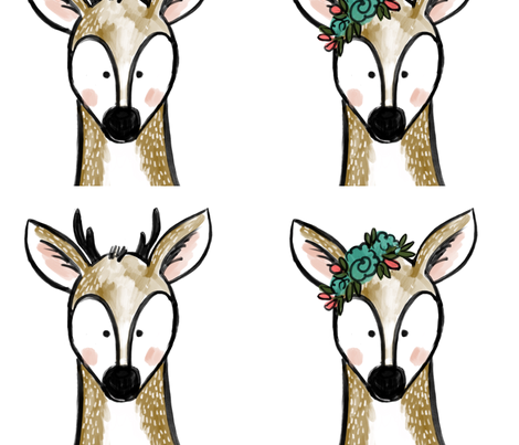 deers fabric by averielaneboutique on Spoonflower - custom fabric