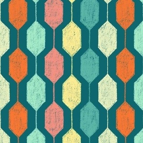 Midcentury Modern Hexagons