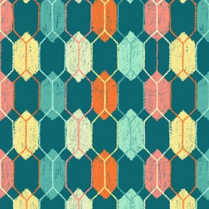 Midcentury Hexagon Argyle