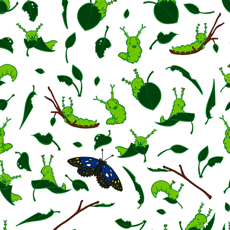 Cuteapillars fabric by jadegordon on Spoonflower - custom fabric