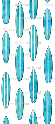 surfboards - watercolor blue