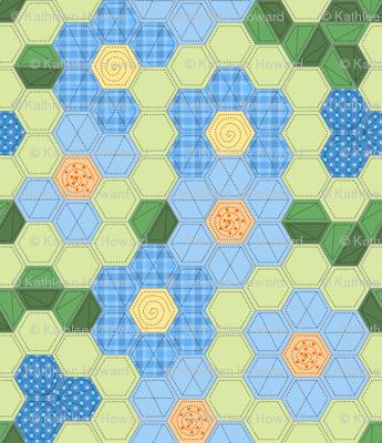 Modern Hexagon Flower Garden
