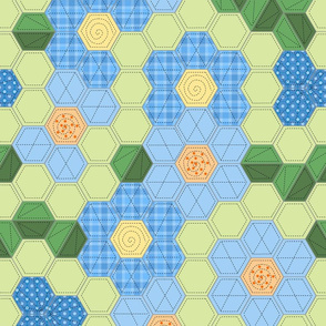 Modern Hexagon Flower Garden