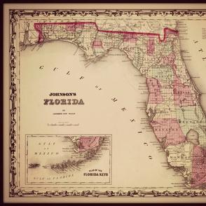 Florida map, large
