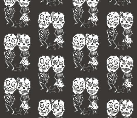 Dancing Skeltons fabric by incredible on Spoonflower - custom fabric