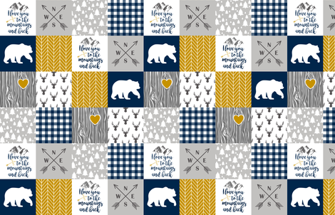 To The Mountains - Wholecloth Cheater Quilt fabric by longdogcustomdesigns on Spoonflower - custom fabric