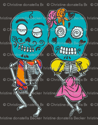 Dancing Skeletons Full Color