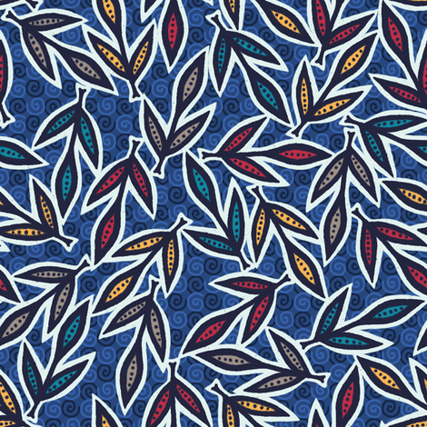 Autumn Leaves - Puddle fabric by siya on Spoonflower - custom fabric