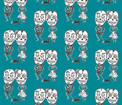 Dancing Skeletons fabric by incredible on Spoonflower - custom fabric