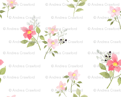 Dainty Pink Spring Floral