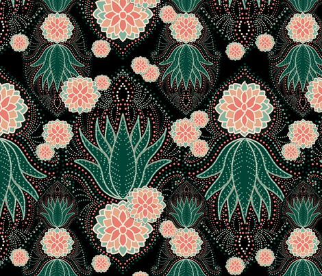 Soothing succulents fabric by beesocks on Spoonflower - custom fabric