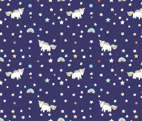 unicorn deep purple fabric by meissa on Spoonflower - custom fabric