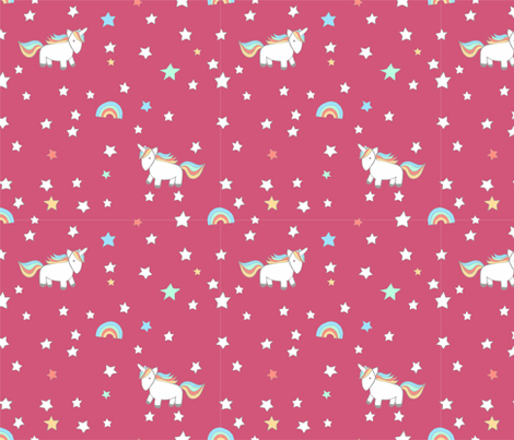 unicorn berry fabric by meissa on Spoonflower - custom fabric