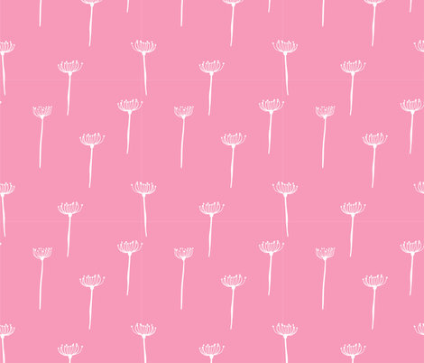 long grass pink fabric by meissa on Spoonflower - custom fabric