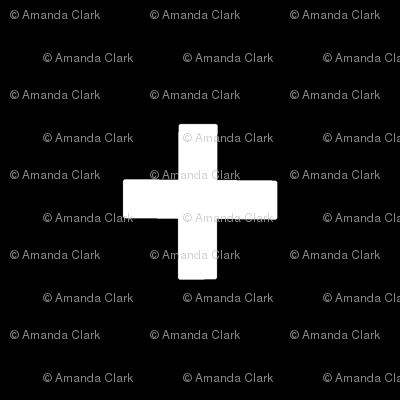 Large Crosses - white on black