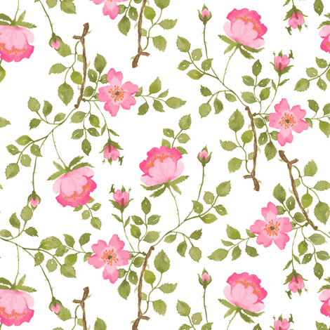 Flowers and vines fabric by mintpeony on Spoonflower - custom fabric