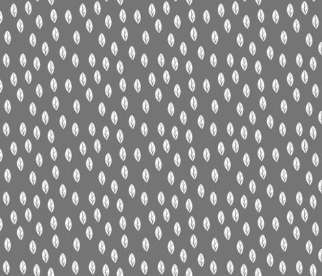 leafs grey fabric by meissa on Spoonflower - custom fabric