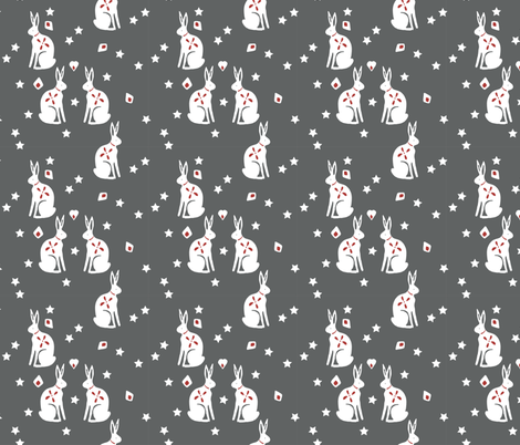 bunny grey fabric by meissa on Spoonflower - custom fabric