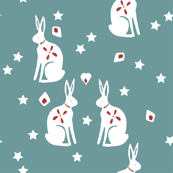 bunny teal
