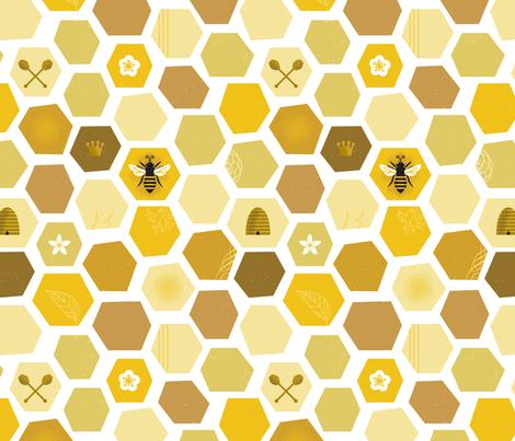 Honeycomb fabric by lellobird on Spoonflower - custom fabric