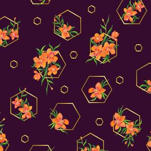 Blooming Geometry Purple