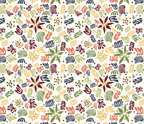 Fleurs_de_Matisse_sombre fabric by melluciani on Spoonflower - custom fabric