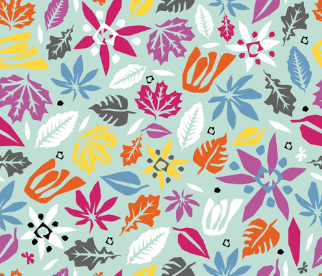 Fleurs_de_Matisse_tropique fabric by melluciani on Spoonflower - custom fabric
