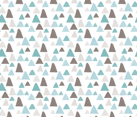 Summer winter mountain triangle colorful mountains woodland gender neutral fabric by littlesmilemakers on Spoonflower - custom fabric