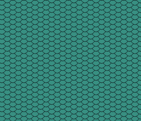 Scales Teal fabric by purplish on Spoonflower - custom fabric