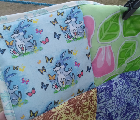 Rabbit and Butterflies in Blue 2