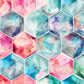 Translucent Watercolor Hexagons large version