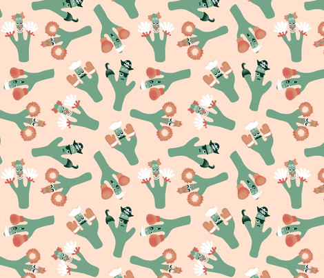 Crazi Cacti fabric by michelleaitchison on Spoonflower - custom fabric