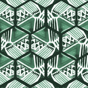 emerald hexagons