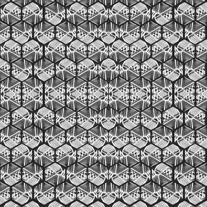 hexagon water color grey