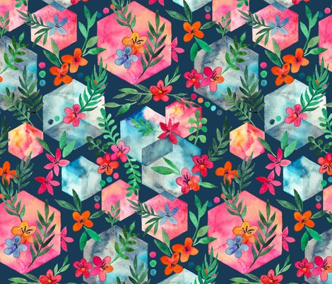 Rrrrrhexagon_garden_base_dark_with_flowers_spoonflower_shop_preview