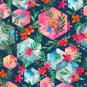 Rrrrrhexagon_garden_base_dark_with_flowers_spoonflower_shop_thumb