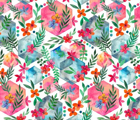 Rhexagon_garden_base_with_flowers_spoonflower_shop_preview