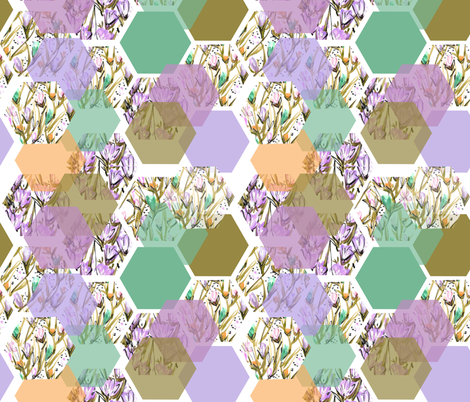 Garden Hive fabric by heather_powers on Spoonflower - custom fabric
