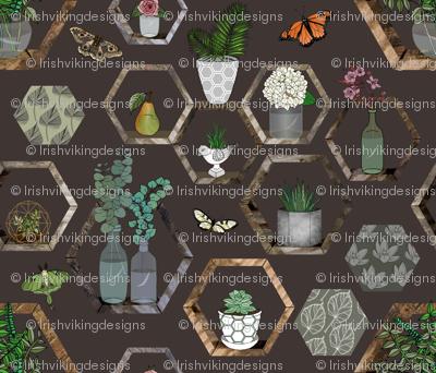 Hexagon Garden Wall