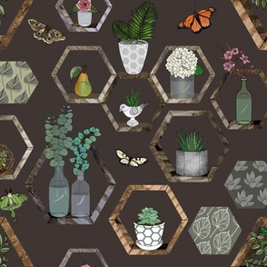Hexagon Garden Wall