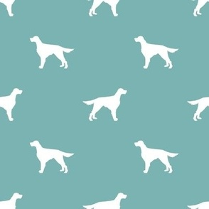 Irish Setter dog fabric silhouette pattern gulf
