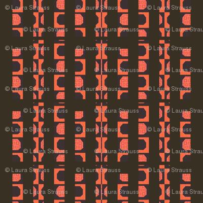 black and orange rails