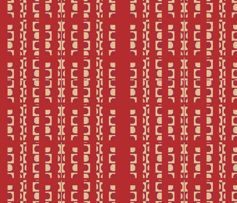 rails in red fabric by twigsandblossoms on Spoonflower - custom fabric