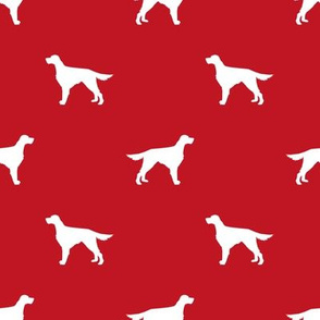 Irish Setter dog fabric silhouette pattern red
