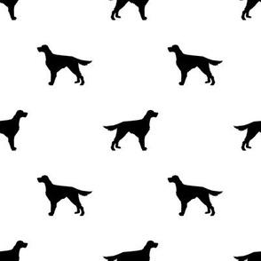 Irish Setter dog fabric silhouette pattern white