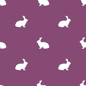 Rabbit fabric silhouette pattern amethyst