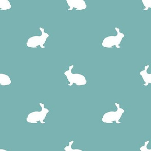 Rabbit fabric silhouette pattern gulf