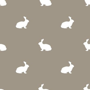 Rabbit fabric silhouette pattern med brown
